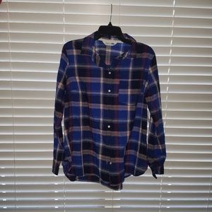 Light Flannel Button down top